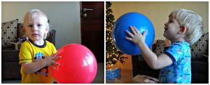 The bouncy balls were a hit.