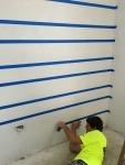 Taping off Caleigh's room