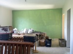 First coat - colorful green wall