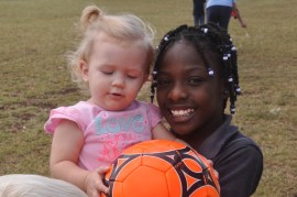 Caleigh and 3rd grader Marcia