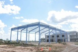 The shell of the multi-use building is complete!