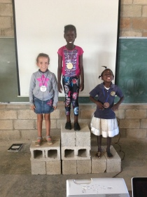 The kids had fun placing in different track and field events.