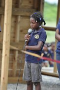 4th grader Rosa helped pray at the Dedication Ceremony