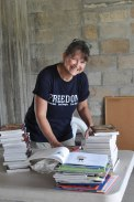 Miss Becky is a librarian in the States and graciously spent her week with us organizing our brand new library!