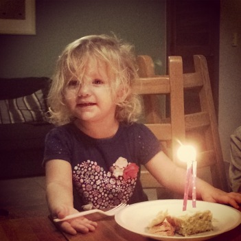 Caleigh turned 2 a week later!