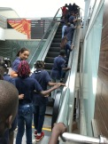 Our students enjoyed their field trip! The escalator at the airport was a brand new experience for them.