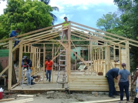 We worked with SCORE International to help rebuild Rosa's parents' house in Ramón Santana