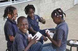 Third graders at a center