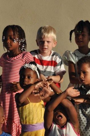 Leyton and his Kindergarten classmates