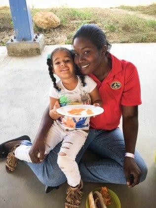 Alondra with our pre-school teacher Desiree