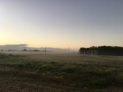 A foggy morning run for Ang