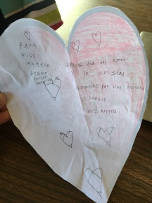 Darla gave me a sweet little Valentine!