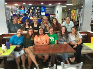 Ladies' Bible study ended with dinner at McDonald's!