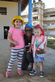 Sofia and Caleigh with Miss Mery