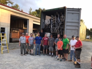 Our stateside volunteers helped pack another shipping container of classroom furniture for us!