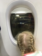 Checking out that big, wide world while waiting to deplane