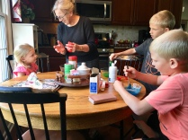 Making homemade slime with Great Grandma!